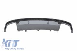 Rear Bumper Valance Air Diffuser suitable for AUDI A7 4G Facelift (2015-2018) S7 Design - RDAUA74GS7FB