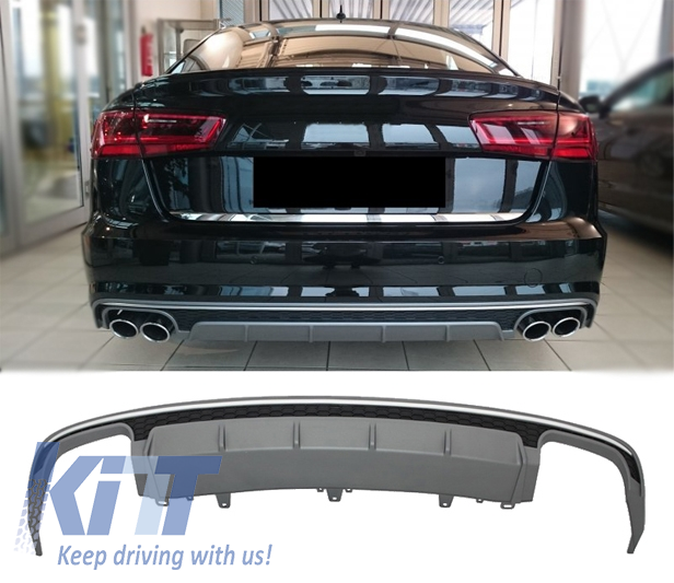 rear bumper valance diffuser audi a6 4g facelift 2015. Black Bedroom Furniture Sets. Home Design Ideas