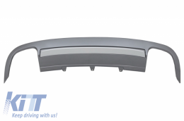 Rear Bumper Valance Diffuser suitable for AUDI A5 8T 4D Sportback S-Line Non Facelift (2007-2011) - RDAUA58TS54D