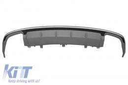 Rear Bumper Valance Diffuser suitable for AUDI A6 4G Facelift (2015-2018) Sedan Limousine S6 Design - RDAUA64GFS6
