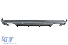 Rear Bumper Valance Diffuser suitable for Audi Q5 8R (2009-2016) Platinum Grey - RDAUQ58RN