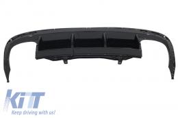 Rear Bumper Valance Diffuser suitable for VW Passat CC (2012-2017) R Line Design Twin Double Exhaust - RDVWPACCRL