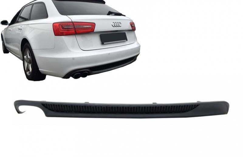 rear bumper valance diffuser with left outlet audi a6 4g. Black Bedroom Furniture Sets. Home Design Ideas