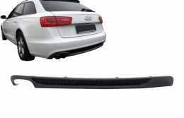 Rear Bumper Valance Diffuser With Left Outlet Audi A6 4G (2012-2015) S-Line S6 Design - RDAUA64GS6SO