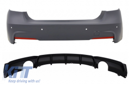 Rear Bumper with Air Diffuser Valance Double Outlet BMW 3'er F30 (2011-up) M-Performance Design