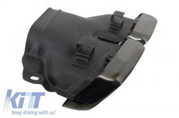Rear Bumper with Exhaust Muffler Tips Black Edition and LED Light Bar Taillights suitable for MERCEDES Benz W212 E-Class Facelift (2009-2012) E63 Design