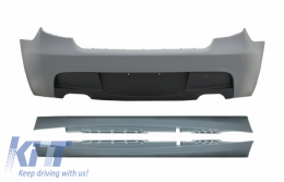 Rear Bumper with Side Skirts suitable for BMW Series 1 E87 Hatchback (2004-2011) M-Technik M Sport Design Without PDC