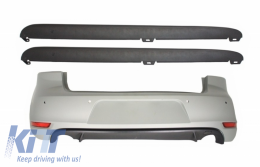Rear Bumper with Side Skirts suitable for VW Golf 6 VI (2008-2012) GTI Design - CORBVWG6GTISS