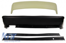 Rear Bumper with Side Skirts Trunk Spoiler Top Wing LTW Design suitable for BMW E36 3 Series (1992-1998) M3 Design - CORBBME36M3L