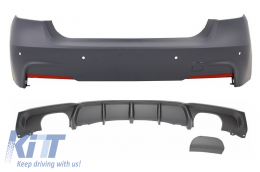 Rear Bumper with Valance Diffuser Single / Double Outlet BMW 3'er F30 F31 (2011-up) M Performance Design
