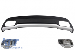 Rear Diffuser and Exhaust Tips Tailpipe Package suitable for MERCEDES A-Class W176 (2012-2018) Sport Pack - RDMBW176AMG