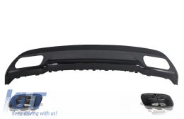 Rear Diffuser & Exhaust Tips Tailpipe Package Black suitable for MERCEDES A-Class W176 (2012-up) Sport Pack - RDMBW176AMGB