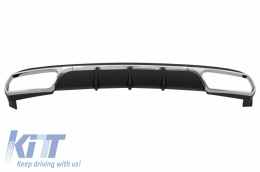 Rear Diffuser suitable for Mercedes E-Class W212 Facelift (2013-2016) only Standard Bumper - RDMBW212AMGN
