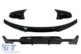 Rear Diffuser with Trunk Spoiler and Mirror Covers suitable for BMW 4 Series F32 Coupe (2013-) M Performance Design - CORDBMF32MPDOBTSB