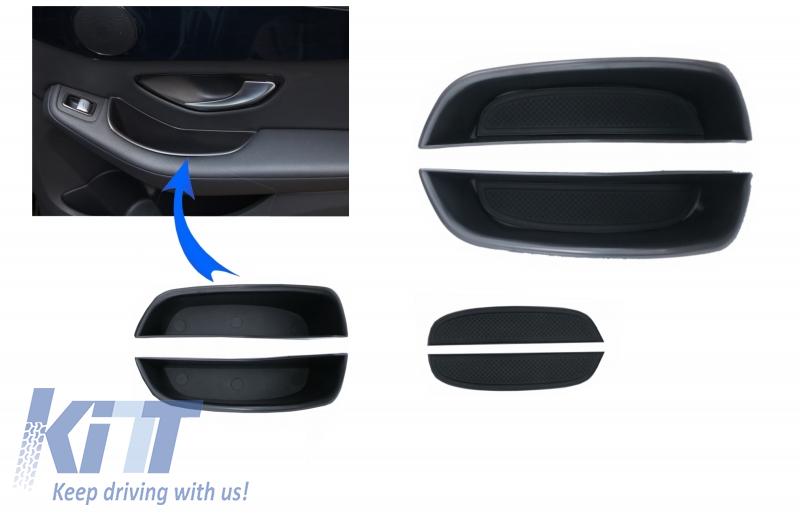 Rear Doors Storage box for Mercedes C-Class W205 S205 Limo T-Modell  (2014-2018) GLC X253 (2015-2018)