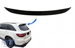 Rear Roof Spoiler Add-On suitable for Mercedes GLC X253 SUV (2015-2020) Piano Black - TSMBGLCX253S
