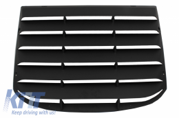 Rear Window Louvers suitable for Ford Mustang Mk6 VI Sixth Generation (2015-2019) PFT Style Cover Sun Shade - RWLFMUPFT