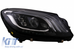 Right Headlight Full LED suitable for MERCEDES S-Class W222 Facelift Look OEM - HLMBW222FLOEMRH
