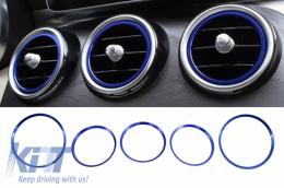 Ring Frame Ventilation Blue suitable for Mercedes A Class W176 B Class W246 CLA Class C117 and GLA Class X156 - VFRMBB