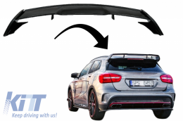 Roof Boot Lid Spoiler suitable for MERCEDES GLA X156 (2014-2019) GLA45 Design Piano Black - TSMBX156AMG