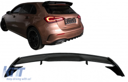 Roof Boot Lid Spoiler suitable for Mercedes A-Class Hatchback W177 (2018-up) A45 Design Piano Black - TSMBW177PB