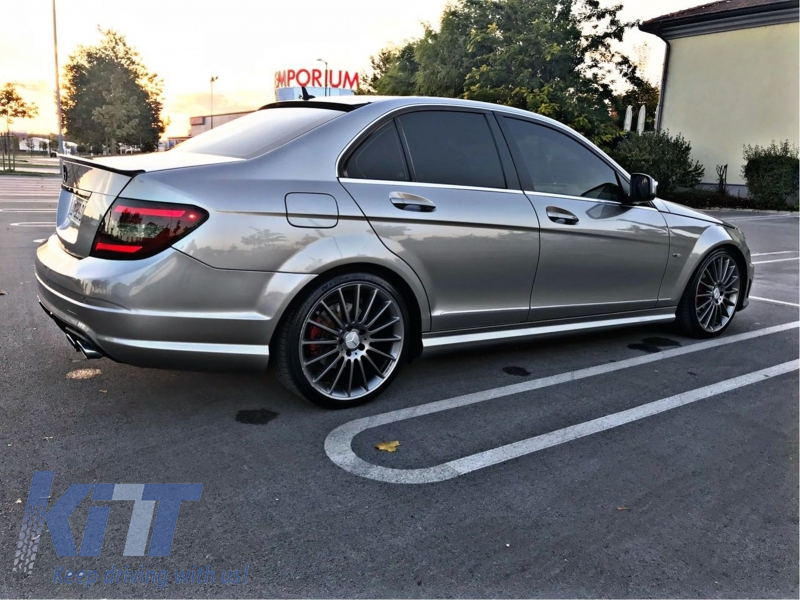 roof spoiler mercedes c class w204 2007 2014 amg design. Black Bedroom Furniture Sets. Home Design Ideas