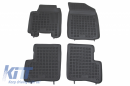 Rubber Floor Mat black suitable for TOYOTA YARIS I (1999-2005) - 201408