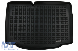 Rubber Trunk Mat Black suitable for Renault Clio V (2019-) Hatchback - 231399