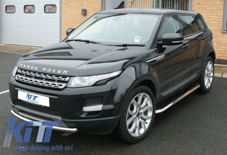 Deployed Side Steps For Range Rover Genuine Accessory: Running Boards Land Rover Range Rover Evoque Pure And