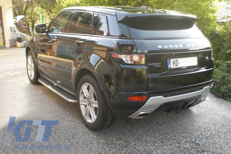 Deployed Side Steps For Range Rover Genuine Accessory: Running Boards Land Rover Range Rover Evoque Dynamic Side