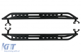 Running Boards Side Steps Nerf Bars suitable for Jeep Wrangler / Rubicon JK (2007-2017) 4 Doors Iron - RBJEWJK4DARM