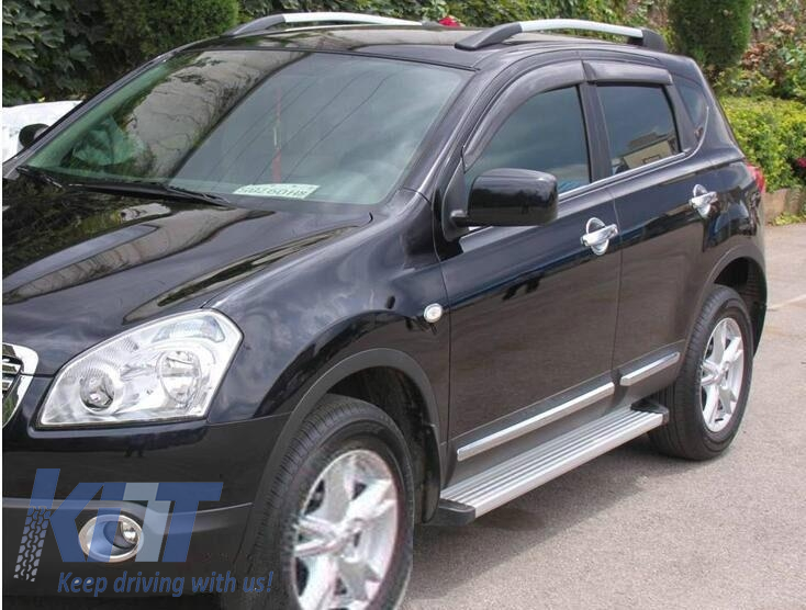 running boards side steps nissan qashqai j10 2007 2013. Black Bedroom Furniture Sets. Home Design Ideas