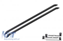 Running Boards Side Steps Side Tubes Volkswagen T5 Transporter Multivan Caravelle T5 T5.1 SWB Facelift (2003-2015) Sportline Design Black - RBVWT5B