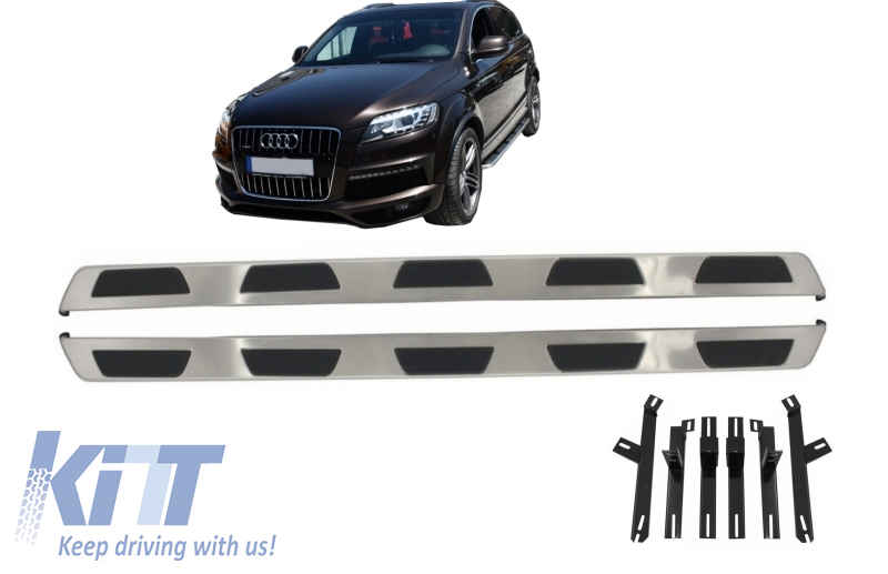 Side Steps Running Boards Set For Audi Q7 2016