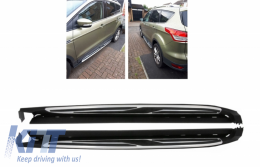 To Fit 2012-2016 Ford Kuga Polished Aluminium ABS Side Steps Running Boards