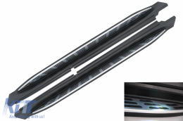 Running Boards Side Steps suitable for MERCEDES GLE W167 (2019-up) with LED Courtesy Light - RBMBGLEW167L