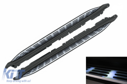 Running Boards Side Steps suitable for Mercedes GLS SUV X167 (2020-up) with LED Courtesy Light - RBMBGLSX167