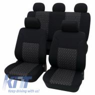 Seat cover set Universal Eco Class Ambiente 11 pieces - Black - 33474804