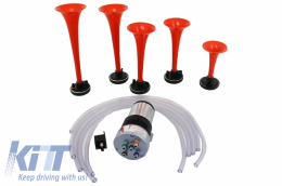 Set of Two Air Pressure Auto Horn With Low and Deep Tonality - 1040084/FM5LCP