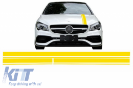 Set Sticker Matte Yellow Upper Bonnet Roof & Tailgate suitable for MERCEDES Benz CLA W117 C117 X117 (2013-2016) A Class W176 (2012-2018) 45 A-Design Edition 1 - STICKERMBHYE
