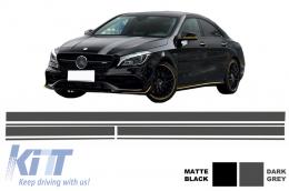 Set Sticker Vinyl Dark Grey Upper Bonnet Roof & Tailgate suitable for MERCEDES CLA W117 C117 X117 (2013-2016) A Class W176 (2012-up) A45 Design - STICKERMBHDG