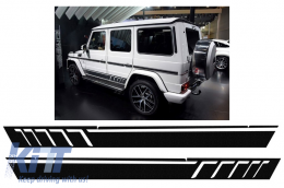 Side Decals Sticker Vinyl Black Mercedes G-class W463 (1989-2017) Black Pearl AMG Design - STICKERW463