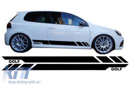Side Decals Sticker Vinyl Black suitable for VW  Golf 5 6 7 V VI VII (2003-up) - STICKERVWG5B