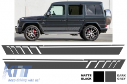 Side Decals Sticker Vinyl Dark Grey Mercedes G-class W463 (1989-2017) AMG Design - STICKERW463DG