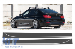 Side Decals Sticker Vinyl Dark Grey suitable for BMW F30 F31 3 Series (2011-Up) M-Performance Design - STICKERF30DG