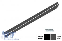 Side Decals Sticker Vinyl Matte Black BMW F10 F11 5 Series (2011-Up) M-Performance Design Dark Grey - STICKERF10DG