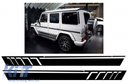 Side Decals Sticker Vinyl Matte Black Mercedes G-class W463 (1989-2017) AMG Design - STICKERW463MB