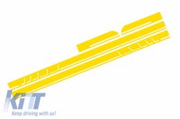 Side Decals Sticker Vinyl Matte Yellow suitable for MERCEDES Benz CLA W117 C117 X117 (2013-2016) A Class W176 (2012-up) 45 Design Edition 1 - STICKERW117YE