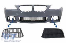 Side Grilles suitable for BMW 5 Series F10 F11 NON LCI/LCI Sedan Touring (2010-2017) M-Performance Sport M550 Design - SGBMF10550