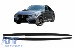 Side Skirts Add-on Lip Extensions suitable for BMW 3 Series F30 F31 (2011-Up) M-Performance Design - SSLBMF30MPBF